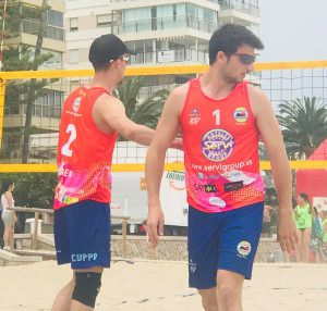 ERIK CARRIO RUBEN MARTINEZ VOLEY PLAYA