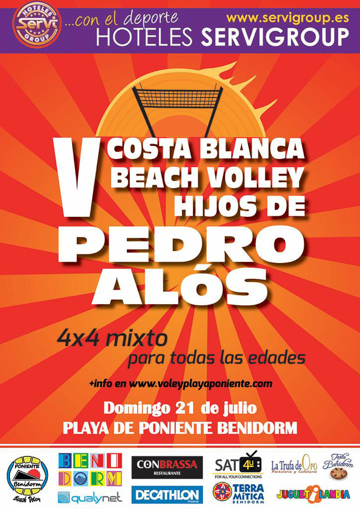 CARTEL V COSTA BLANCA BEACH VOLLEY HIJOS DE PEDRO ALOS 2019